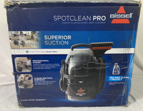 BISSELL SpotClean Black Portable Carpet Cleaner - 3624 FOR P