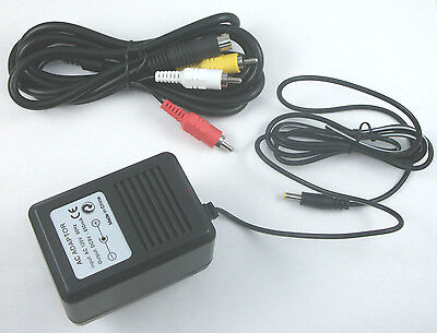 USA Genesis 2 Hookup Connection Kit AC Adapter Power Cord AV Cable MK-1631 Composite Rca Cable Kit