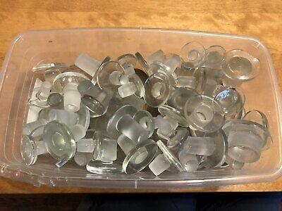 Glassware Lab Glass Mixed Flat Head Stopper Lot
