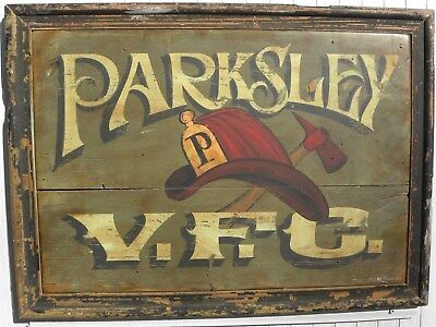 Parksley Volunteer Fire Company Original Hand Painted Art, Home or Dept Decor