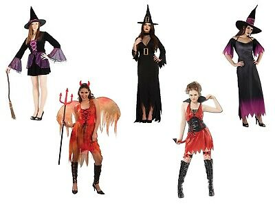 Demonio Del Halloween (Donna Strega in Bosco ,Viola & Demonio Costume Halloween Del Vestito)