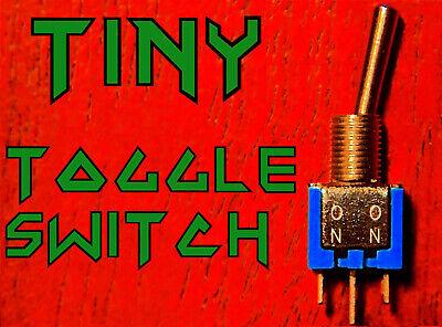 2x Sub Mini On On Toggle Switch Spdt Coil Splitting Humbucker Pickup Guitar Tap