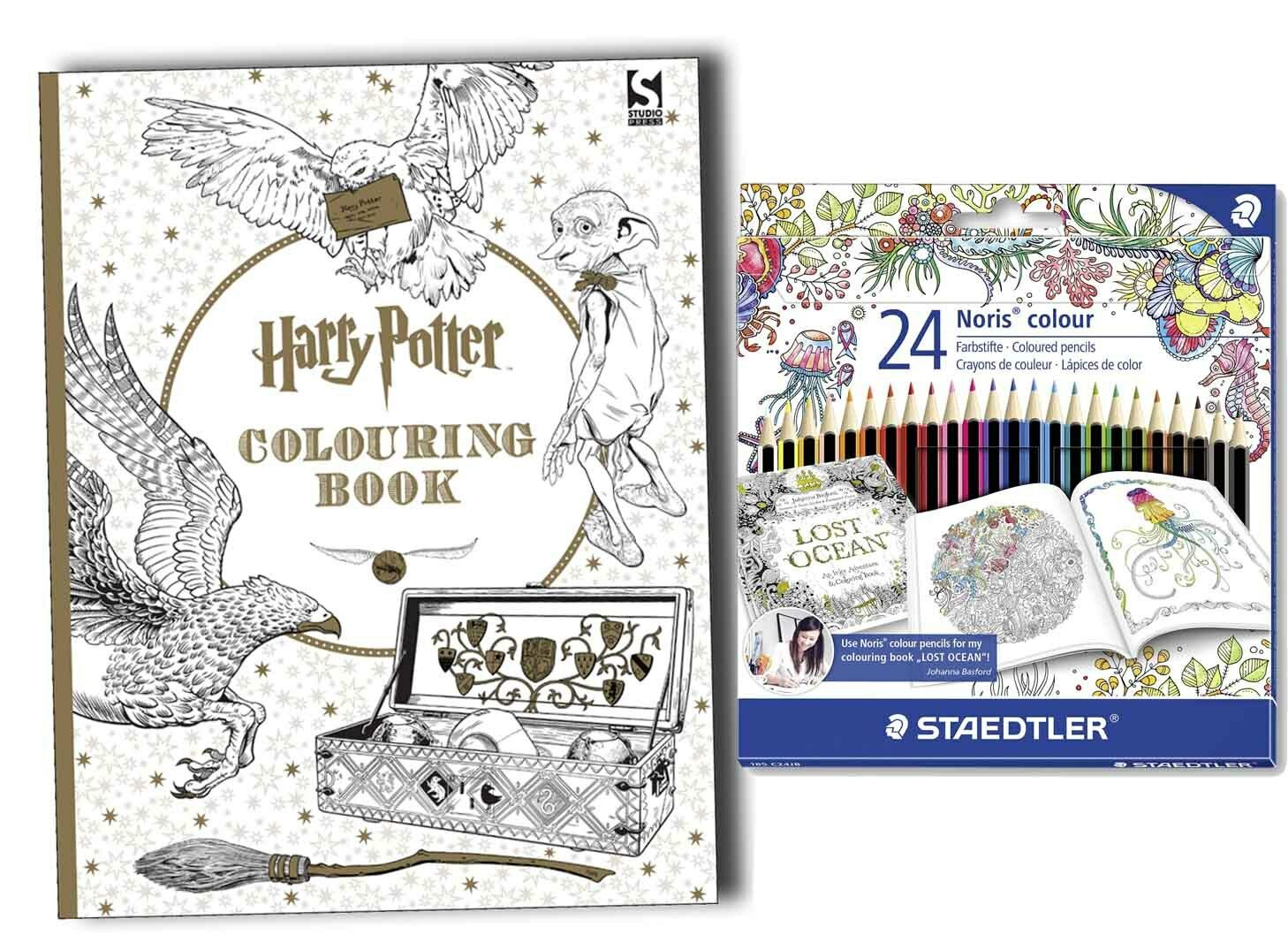 Harry Potter Colouring Book With Pack Of 24 Steadler Pencil