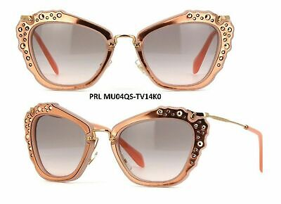 Miu Miu Sunglasses 04QS TV14K0 Matt Pink Grey Pink