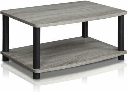 Modern RUSTIC TV STAND Coffee Table Small Wood End Storage L