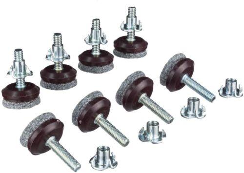 Adjustable Felt Lined Furniture Levelers/Hardwood Floor Protectors Pack of 8