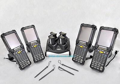Lot Of 4x Refurb Motorola Mc9090g Mc9090-gf0hjefa6wr Wm Barcode Scanner Charger
