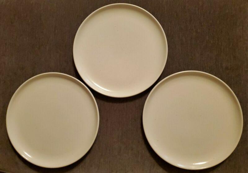 """Set 3 Laurel of California 10"""" dinner Plates speckled cream beige Cerama-stone"""