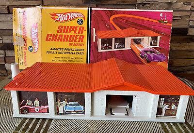 Vintage 1968 Hot Wheels Redlines Supercharger Playset w/ Box NICE UNUSED