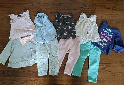 Baby Girl 7 Piece 12-18 Month Spring Summer Shirts Pants Clothes Gap Zara Lot