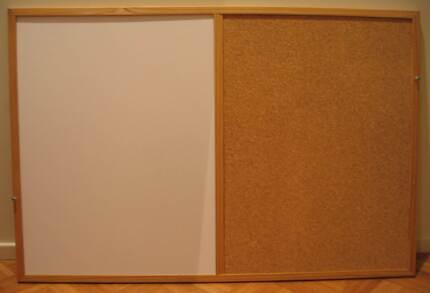 Cork Board & Whiteboard Combo 60cm High x 90cm Length. 2ft x 3ft. Kings Langley Blacktown Area Preview