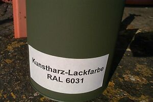Kunstharzlack Fahrzeuglack RAL 6031 nato-oliv- bronzegrün,ab ca. 1975 bis heute