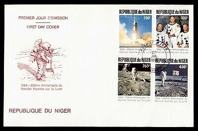 DR WHO 1989 NIGER FDC SPACE 20TH ANNIV APOLLO 11  C240344