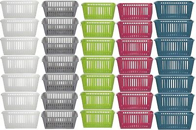 PLASTIC HANDY BASKET STORAGE TIDY ORGANISER PHARMACY SCHOOL HOME OFFICE