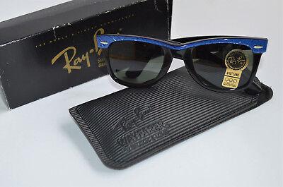 Vintage Original Ray Ban B&L USA Wayfarer Electric Blue mit Originalkarton, (Wayfarer Sonnenbrille Blues)