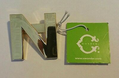 Original C. Wonder Gold Initial Belt Buckle Letter N $28
