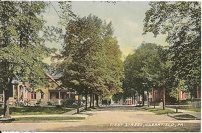 First Street Clearfield Pa Postcard 1912