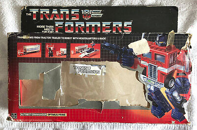 G1 1984 OPTIMUS PRIME BOX ONLY • GENERATION ONE TRANSFORMERS