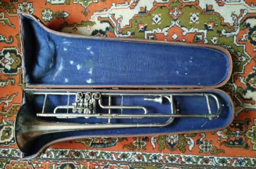 Soviet TROMBONE Old Vintage USSR trumpet musical Instrument RARE Russian