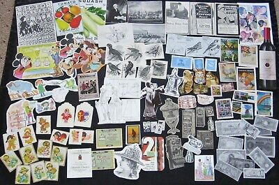 100+pc SMALL Vtg Paper Cut Outs~Junk Journal Art Collage Scrap Pack Supply Lot#4 Small Circle Cut Outs