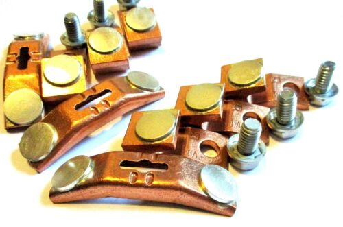 SQUARE D SIZE 4, 3 POLE TYPE CONTACT KIT USED ORIGINAL PARTS (Stock C 30)
