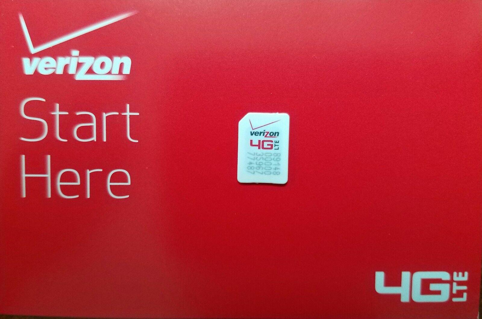 VERIZON NANO 4FF SIM Card • CDMA 4GLTE • NEW Genuine OEM
