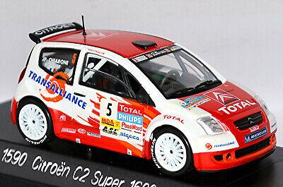 Citroen C2 Super 1600 5 Course Lyon Charbonnieres Rhone 2004 1:43 solido 1590