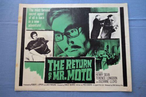 "Vintage Movie Poster, ""The Return of Mr. Moto"" (1965)"
