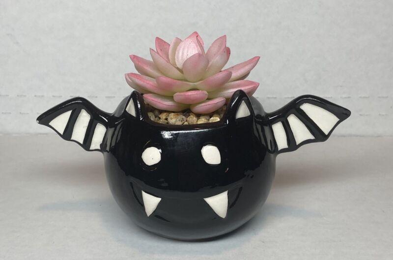 Halloween 2020 Mini Succulent Plant Bat Decor