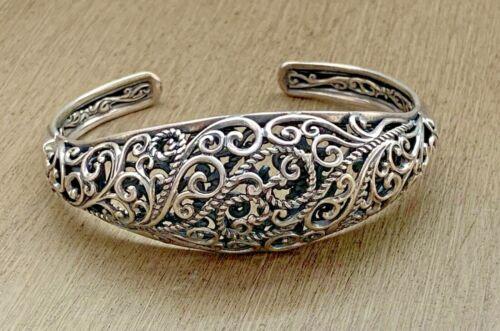 Carolyn Pollack Sterling Silver Hinged Cuff Bracelet