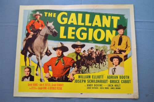 """Vintage Movie Poster, """"The Gallant Legion"""" Re-Release"""