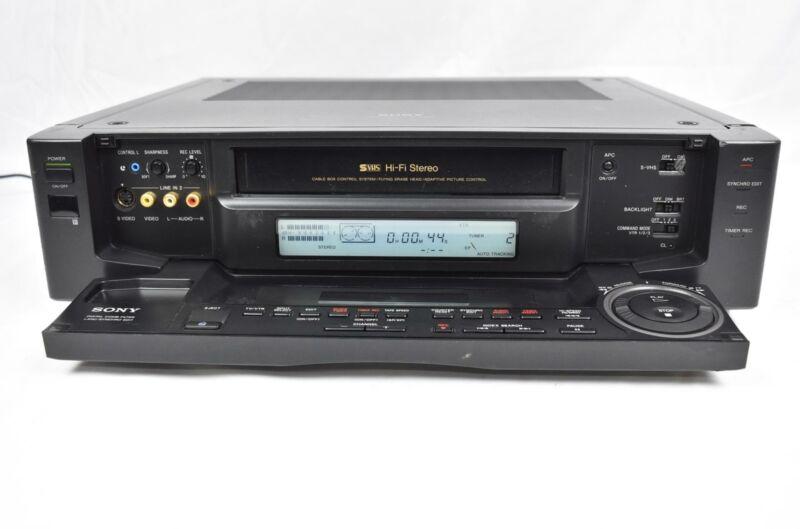 Sony SLV-R1000 Super S-VHS Hi-Fi Stereo Videocassette Recorder VCR
