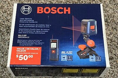 BOSCH GLL-2-CP Laser Measure and Self-Leveling Cross-Line Combo Kit