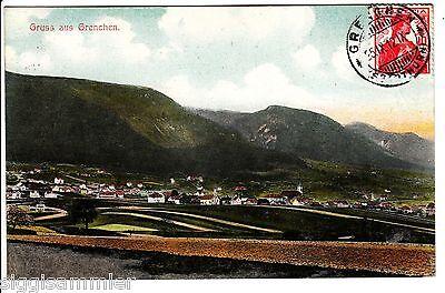 Gruss aus Grenchen AK 1912 Panorama Solothurn Schweiz Suisse Svizzera 1509504