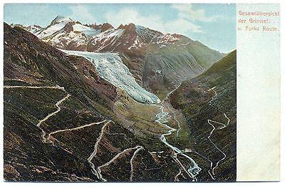 Grimsel u. Furka Route, Gesamtübersicht, 1912