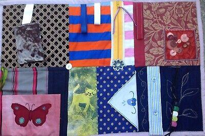 Fidget Sensory Fiddle Lap Blanket Quilt Dementia Alzheimers Activity Mat