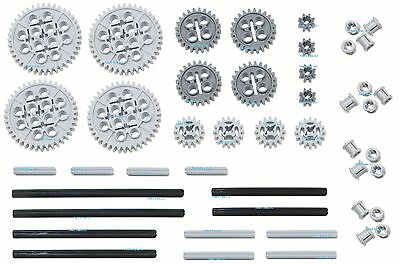 LEGO Technic Mindstorms nxt 46pc gear axle pack SET lot (motor power functions)2 - Lego Gear Set
