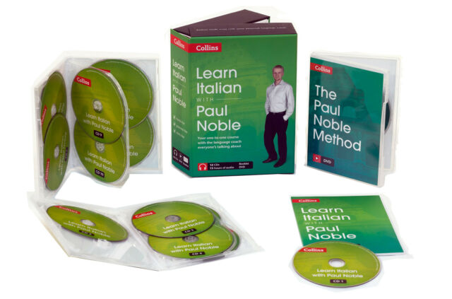 Learn Italian with Paul Noble Collins 12 CDs, Booklet, DVD Collection Box Set
