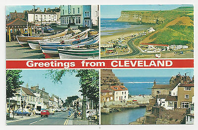 Postcard, E T W Dennis, Greetings from Cleveland Multiview