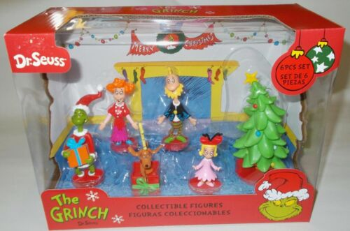 The Grinch Dr. Seuss 6 Piece Collectible Figures Pack Cindy-Lou Max Christmas