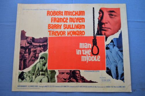 """Vintage Movie Poster,  """"Man in the Middle"""" (1964)"""