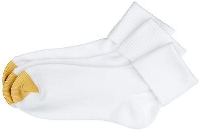 Gold Toe Womens 6-pk. Solid White Turn Cuff Socks 9.5-11