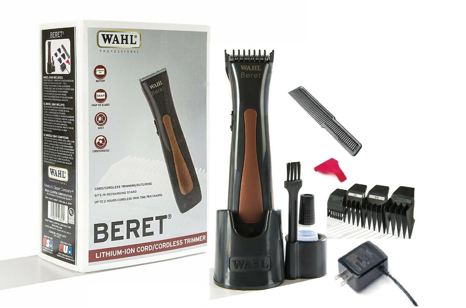 Wahl Professional Beret Lithium Ion Cord/Cordless Trimmer #
