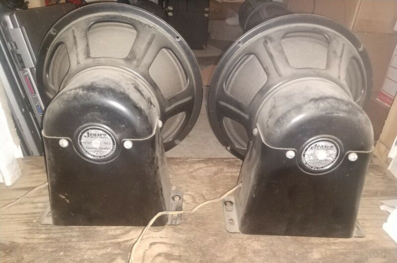 PAIR JENSEN ELECTRO DYNAMIC A-12 field coil concert Speakers- perfect cones ! #1