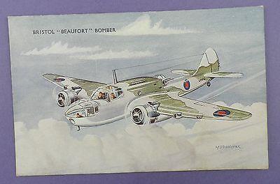 Bristol Beaufort Bomber - Vintage Unused Art Postcard - Bannister Artwork