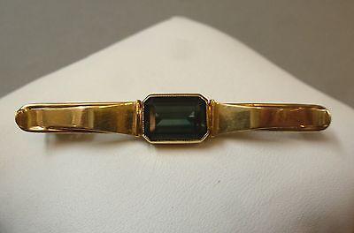 Brosche Schmuck Gold 585 Turmalin