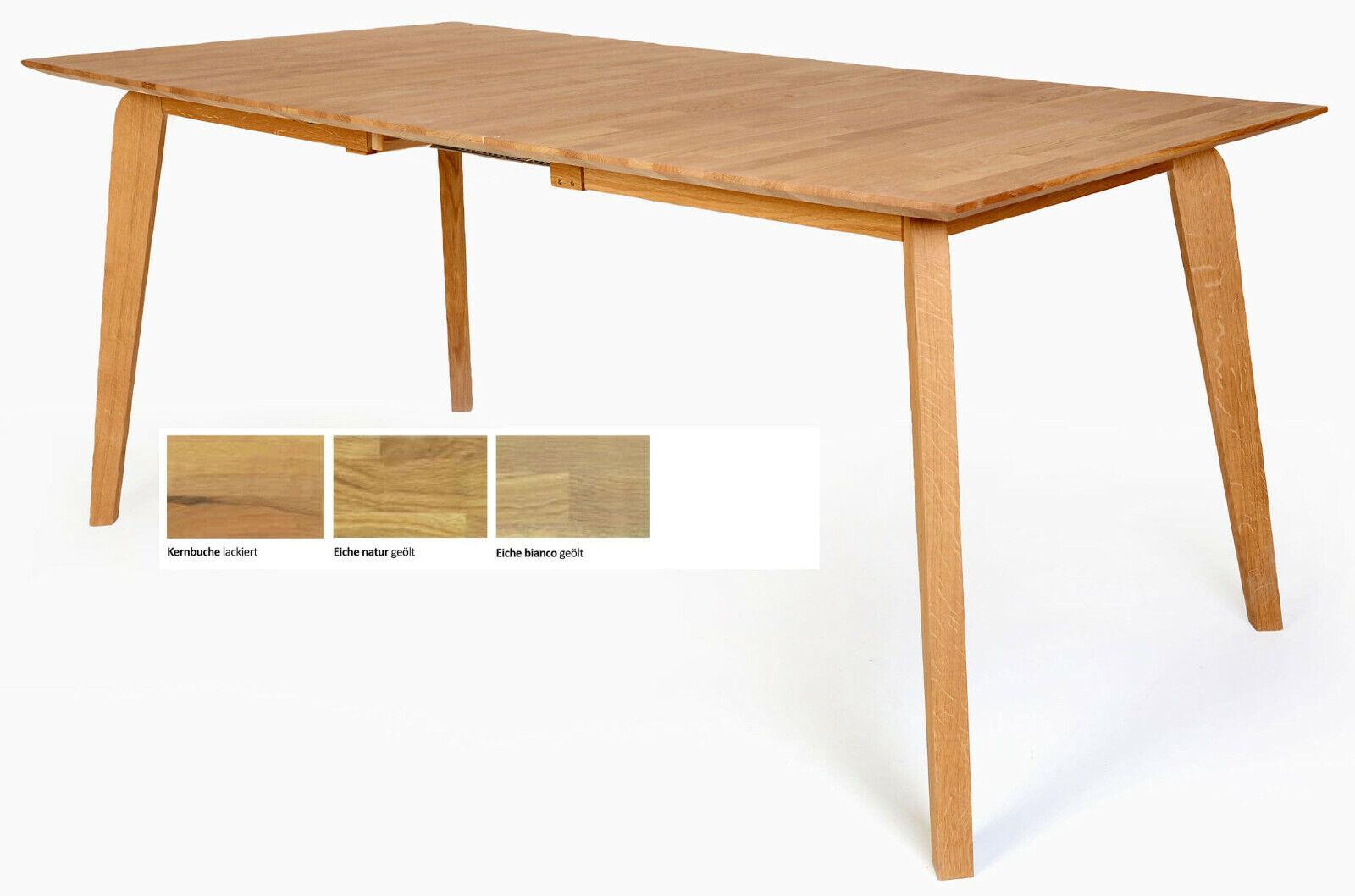 Tisch Ausziehbar Buche Natur Esstisch Teilmassiv