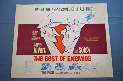 """Vintage Movie Poster, """"The Best of Enemies"""" (1962)"""