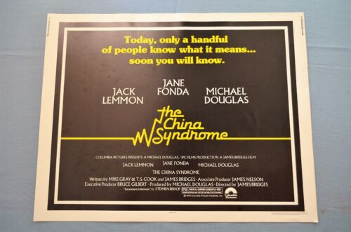 """Vintage Movie Poster, """"The China Syndrome"""" (1979)"""
