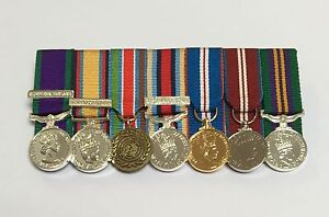 Court-Mounted-Miniature-Medals-GSM-Iraq-Bosnia-Afghanistan-Jubilee-ACSM
